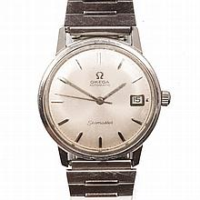 A GENTLEMAN'S STAINLESS STEEL WRISTWATCH, OMEGA SEAMASTER automatic, the ci