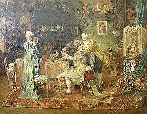 Francois Adolphe Grison (French 1845-1914) THE COLLECTOR IN AN INTERIOR signed 69,5 by 90cm PROVENANCE J B Bennett & Sons Limited, Picture and Fine Art Dealers, Glasgow ILLUSTRATED