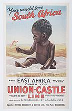 Anon UNION CASTLE SOUTH AFRICA AND EAST AFRICA VINTAGE London: Union Castle
