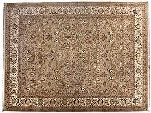 AN INDO-PERSIAN CARPET, MODERN the pale-beige field with an overall design
