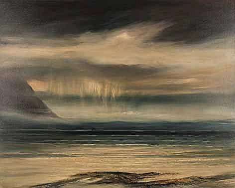 John Stein (South African 1942-) APPROACHING RAIN signed and dated 2016 on