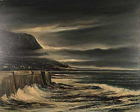 John Stein (South African 1942-) KALK BAY AFTER THE STORM inscribed with th