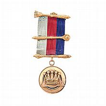 A MASONIC MEDAL 9ct gold, with inscription to the reverse