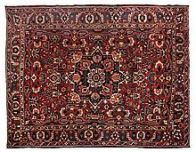 A BAKTIARI CARPET, WEST PERSIA, MODERN the madder field with a bold square