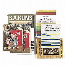 Various A COLLECTION OF SOUTH AFRICAN ART REFERENCE BOOKS Including the fol