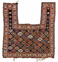 AN AFSHAR FLATWEAVE HORSE COVER, PERSIA, CIRCA 1920 the blue field with ove