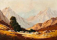 Titta Fasciotti (South African 1927-1993) A SCENE OF THE SWARTBERG signed o