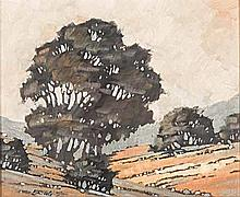 Melvin Brigg (South African 1950-) LANDSCAPE WITH TREES signed and dated 75