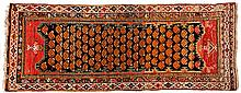 A MELAYER RUNNER, PERSIA, CIRCA 1920 the black field with an overall orange