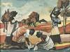 Jan (Johannes Wilhelmus) Dingemans (South African 1921-2001) FIGURES AT THE, Jan Dingemans, R12,000