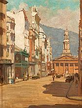 Ruth Prowse (South African 1883-1967) CAPE TOWN STREET SCENE signed with th