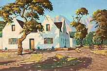 Nils Severin Andersen (South African 1897-1972) HOMESTEAD AND WAGON signed