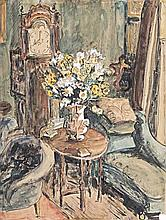 Maud Frances Eyston Sumner (South African 1902-1985) INTERIOR SCENE WITH FL