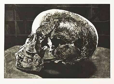 Walter Oltmann (South African 1960-) EX-SITU (CHILD SKULL) etching, signed