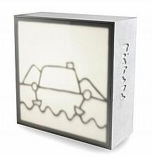 A RICHARD SCOTT 'VIEW OF TABLE MOUNTAIN' LIGHT BOX the rectangular box with