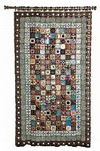 BEA JAFFRAY (20TH CENTURY): A CERAMIC WALL HANGING each articulated square