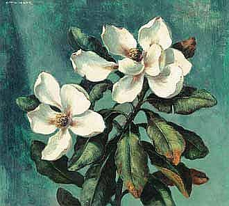 Otto Klar (South African 1908-1994) MAGNOLIAS