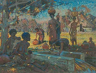 Sydney Carter (South African 1874-1945) SHANGAAN