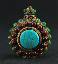 Chinese Qing Bronze Snuff Bottle