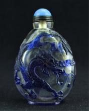 Chinese Qing Peking Glass Snuff Bottle