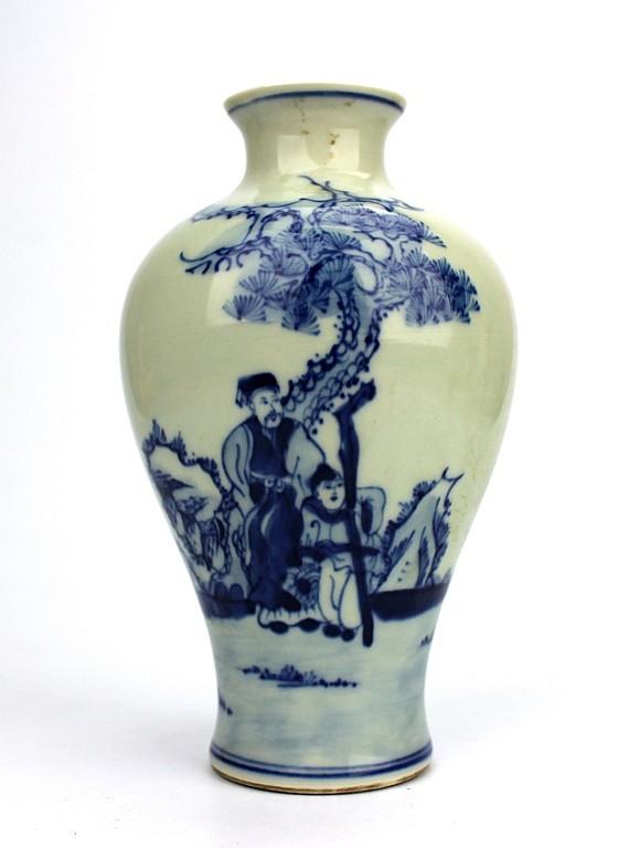 Chinese Blue & White Ceramic Vase