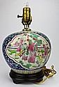 Famille Rose Ceramic Vase Lamp