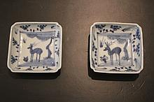 Pair of Chinese Qing Porcelain Blue&White; Plate