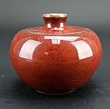 Chinese Qing Porcelain Apple Zun Vase