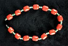 Amber & Jade Necklace