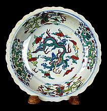 Chinese DouCai Porcelain Plate