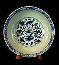 Chinese Blue&White; Porcelain Plate
