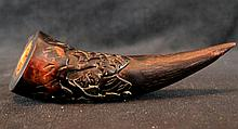 Chinese Hand Carved Horn