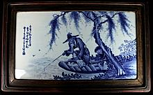 Large Chinese Porcelain Blue&White; Plaque