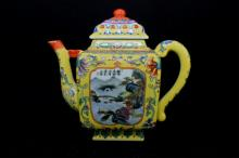 Chinese Qing Porcelain Famille Rose Teapot