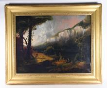 JOHN RUBENS SMITH (1775 - 1849) HUGE LANDSCAPE