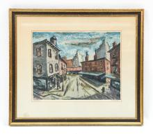HARRY SHOULBERG (1903-1995) SIGNED LITHOGRAPH
