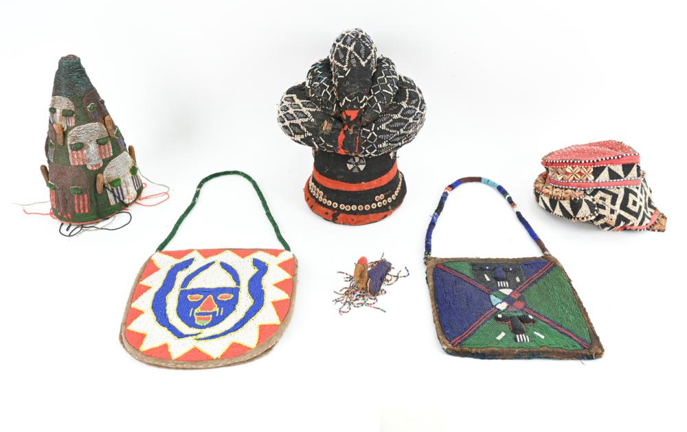 (5) AFRICAN BEADED ITEMS