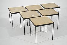 6 PAUL MCCOBB STACKING TABLES