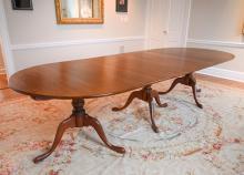 ELDRED WHEELER CHERRY PEDESTAL DINING TABLE