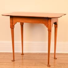 ELDRED WHEELER MAPLE PORRINGER TOP TEA TABLE