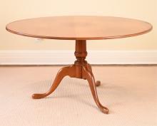 ELDRED WHEELER CHERRY PEDESTAL TABLE
