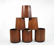 GROUPING OF 6 JENS RISOM WASTEBASKETS