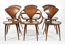 GROUP OF 6 NORMAN CHERNER FOR PLYCRAFT CHAIRS