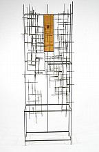 SILAS SEANDEL BRUTALIST SHELF UNIT WALL SCULPTURE