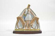 A FRENCH ARGILOR ART DECO PERFUME LAMP
