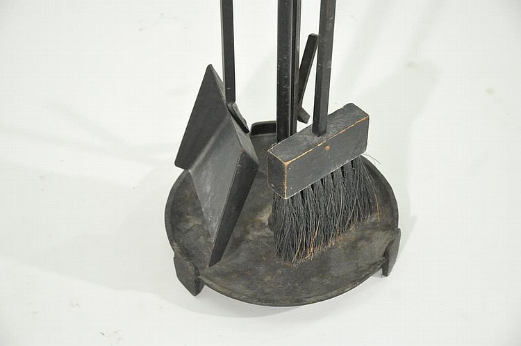 Modern Fireplace Tools In Manner Of George Nelson