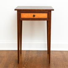 ELDRED WHEELER FEDERAL STYLE ONE DRAWER TABLE