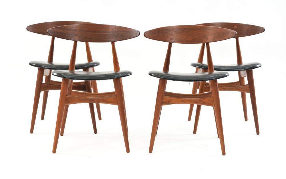 (4) HANS WEGNER ASBJORN MOBLER DINING CHAIRS