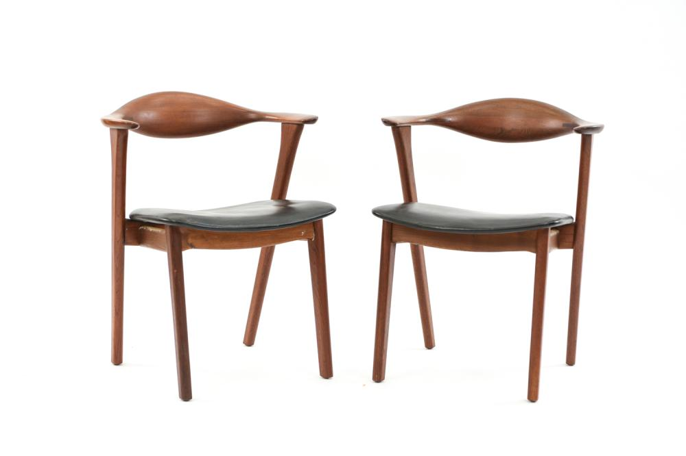 PAIR OF DANISH ASBJORN MOBLER ARM CHAIRS