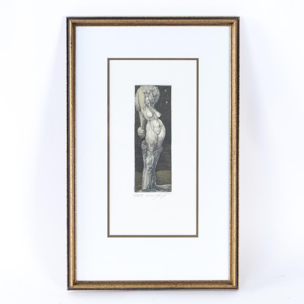 ERNST FUCHS, AUSTRIAN (1930-2015) ETCHING OF NUDE